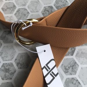 B-low the belt women's tan color belt